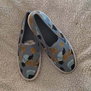 COACH CHRISSY FLORAL LEATHER / Size 9 M Slip-on